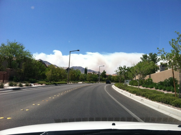 Carpenter 1 wildfire from Summerlin  1