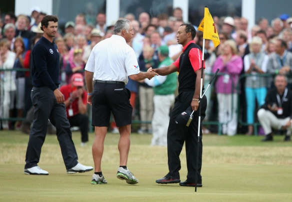 British Open: Tiger Woods, Steve Williams appear to reconcile at Muirfield (Photo by Andy Lyons/Getty Images)