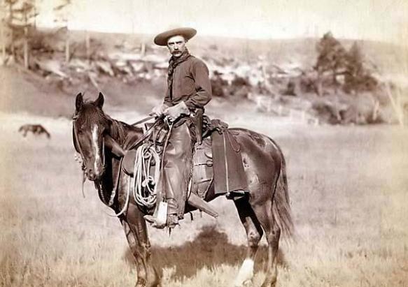 Working cowboy, 1880.