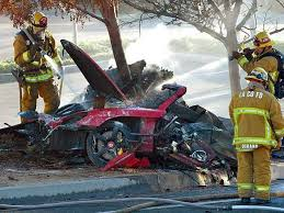 Paul Walker   Porsche Carrera GT crash scene 7